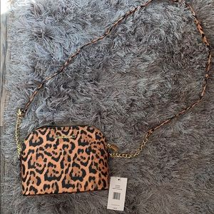 NWT Leopard crossbody bag